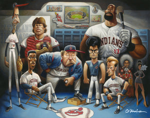 TRIBUTE TO MAJOR LEAGUE - Fine Art Giclée print in 3 sizes - framed or unframed