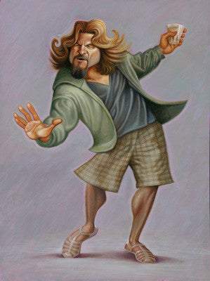 The Dude: A Tribute to the Big Lebowski Giclée Print | Gifts for Fans of the Big Lebowski