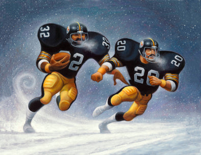 A Tribute to Franco & Rocky | Fine Art Giclée Print | Gifts for Pittsburgh Steelers Fans