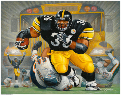 The Bus: A Tribute to Jerome Bettis | Fine Art Giclée Print | Gifts for Pittsburgh Steelers Fans