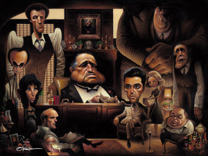 LA FAMIGLIA: A TRIBUTE TO THE GODFATHER - Fine Art Giclée print in 3 sizes - framed or unframed