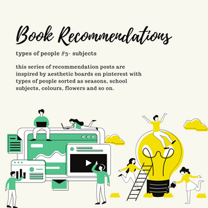 ~ Book Recommendations ~ types of people #3 - SUBJECTS