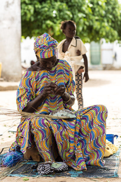 Senegal basket weaver