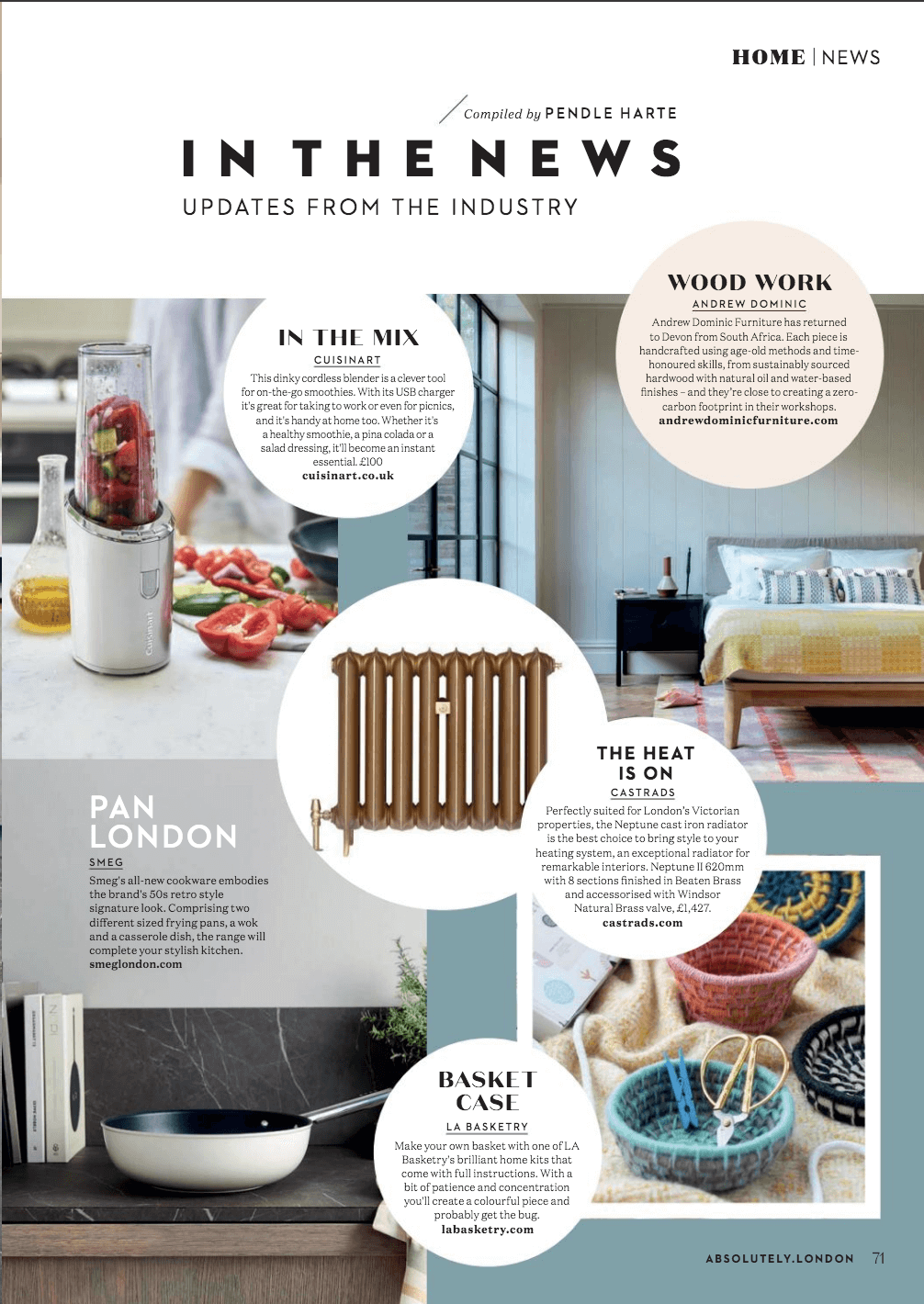 la basketry feature in absolutely magazine march 2021