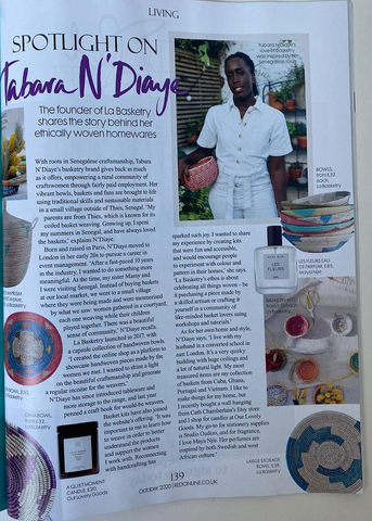 tabara N'Diaye featured in red magazine October 2020