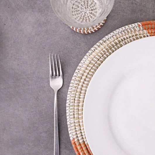 Handwoven Orange Placemat