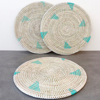 Handwoven Turquoise Placemat