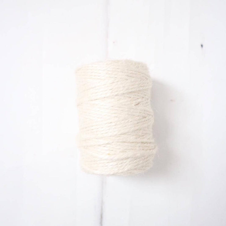 la basketry white/cream spool of jute twine for diy basket weaving