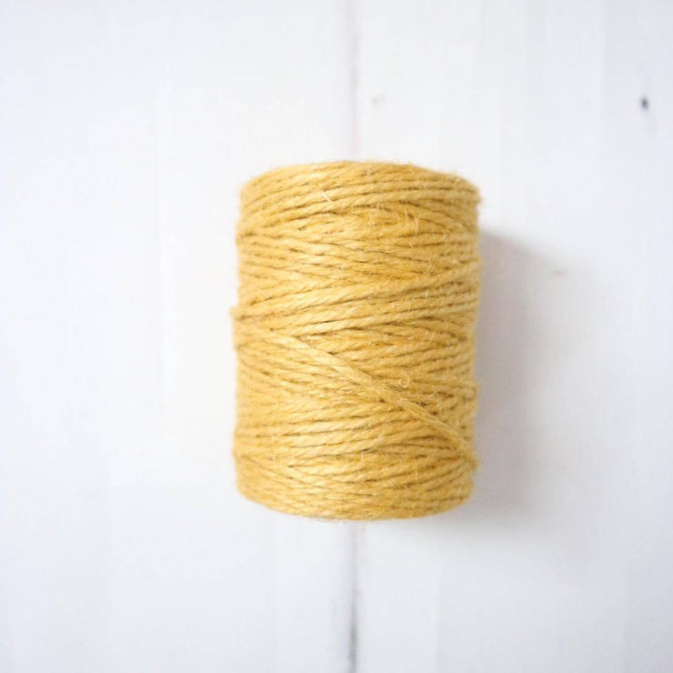 la basketry yellow/mustard spool of jute twine for diy basket weaving