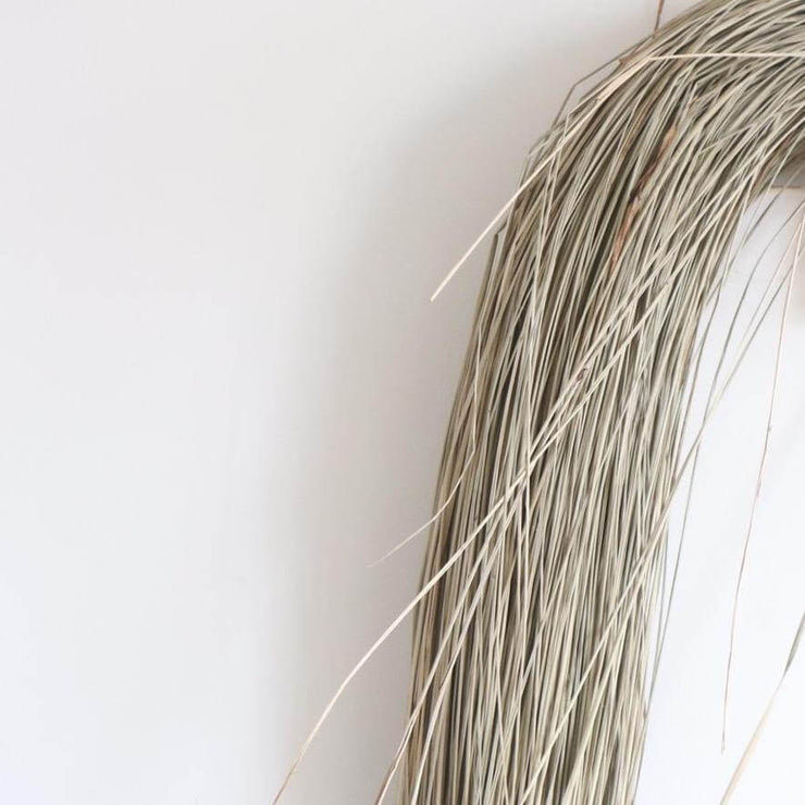 seagrass bundles shown close up from la basketry