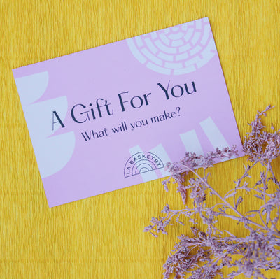a gift for you? workshop voucher to be redeemed for digital and in-person basket-weaving workshop
