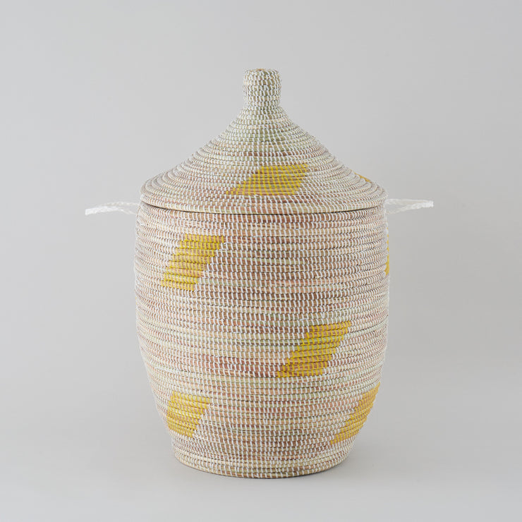 large african storage baskets with lid-La Basketry
