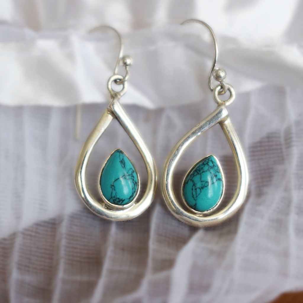 Little Turquoise Raindrop Earrings
