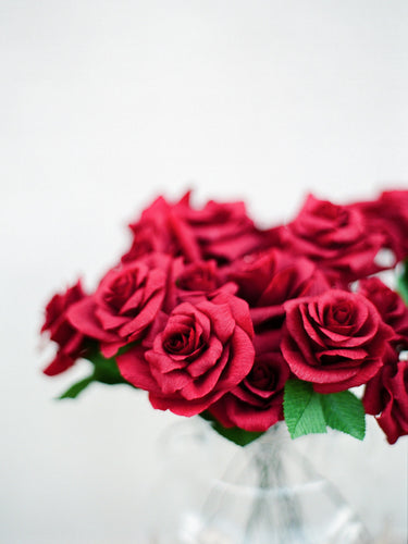 A Dozen Red Paper Roses