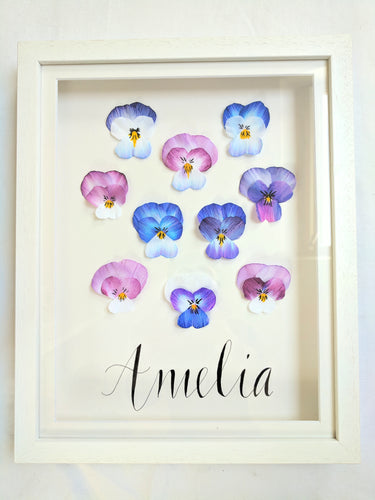 Personalised Pansy Name Frame
