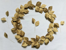 Gold Leaf Christmas Wreath