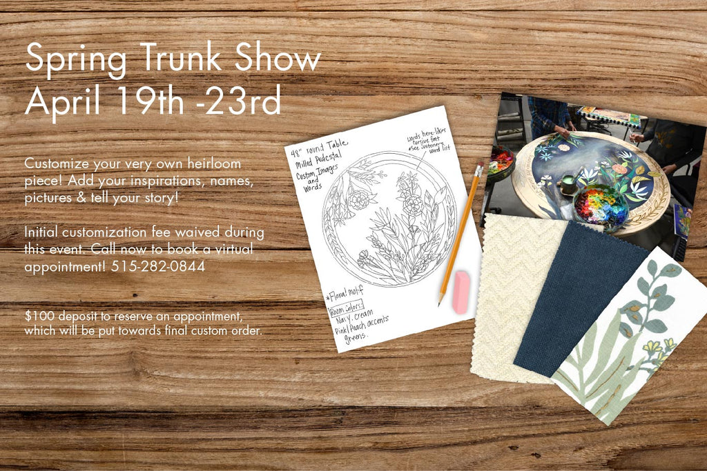 2021 Spring Trunk Show at Sticks Gallery!