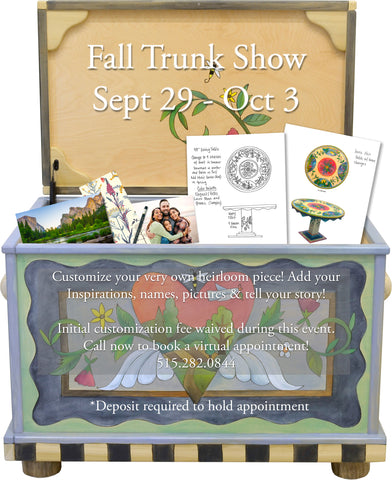 Save the Date: Sticks Gallery Fall Trunk Show Sept 29-Oct 3!