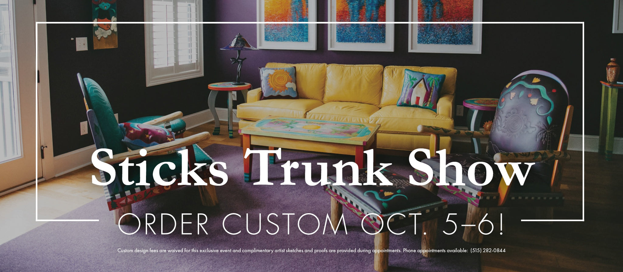 Save the Date: Sticks Gallery Trunk Show Oct. 5th-6th!