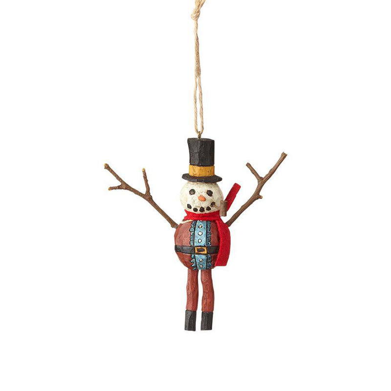 Snowman Dressed as Santa Ornament