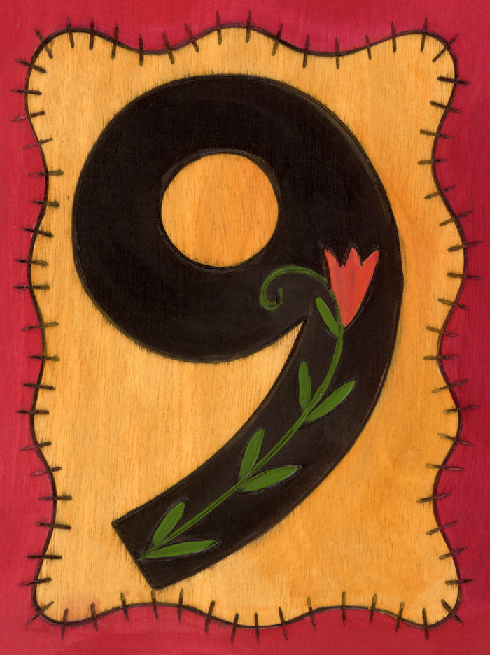 """9"" House Number Plaque"