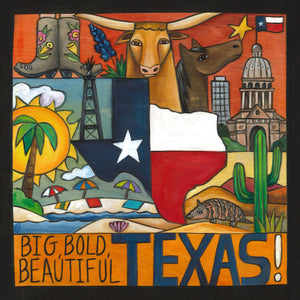 """A Touch of Texas"" Plaque – ""Big, bold, beautiful Texas!"" plaque motif front view"