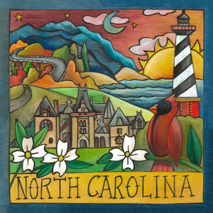 """Blue Ridge Beauty"" Plaque – Beautiful North Carolina landscape scene along the coast front view"