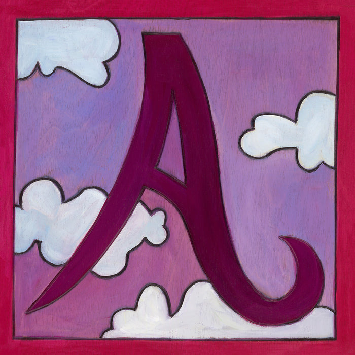 """A"" Alphabet Letter Plaque"