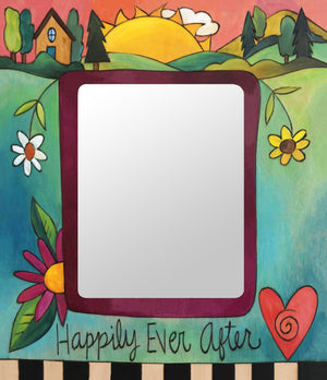 """As You Wish"" Picture Frame – Vibrant and colorful ""Happily Ever After"" artisan printed picture frame front view"