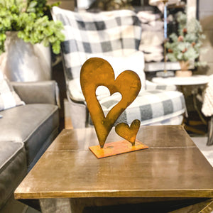Baby Heart Sculpture – Pair of hearts on a sculpture base is the perfect gift for a loved one main view