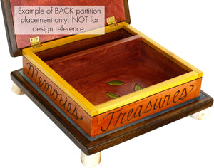 "Keepsake Box – ""My stuff"" beautiful and busy words and phrases design"