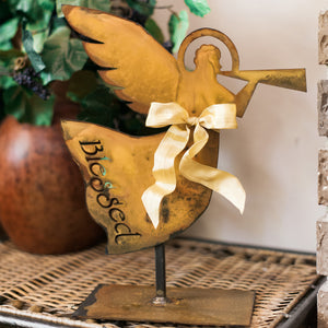 Blessed Halo Angel Sculpture – Decorate your home with this angel with a reminder to count your blessings main view