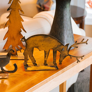 Blitzen Reindeer Sculpture – Grazing reindeer sculpture, arrange Blitzen with Dancer and Sleigh Sculptures for an adorable holiday display main view