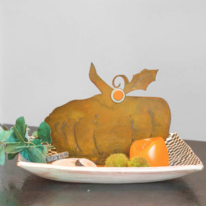 Brady Pumpkin Sculpture – Short and plump pumpkin sculpture is the perfect versatile fall decoration that can be used all season long and especially for Halloween and Thanksgiving main view