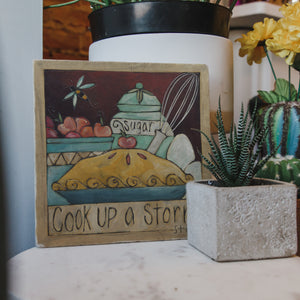 "Quote Marble Trivet – ""Cook up a storm"" baking trivet will come in handy when you're whipping up some freshly baked pies main view"