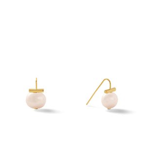 Classic Baby Pebble Pearl Earrings in Opal – Petite, scaled down versions of Catherine Canino's most popular design in a soft opal color
