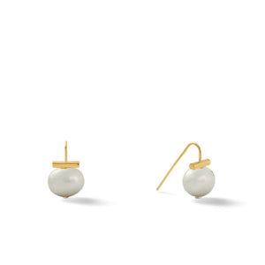 Classic Baby Pebble Pearl Earrings in Soft Grey – Petite, scaled down versions of Catherine Canino's most popular design in a delicate soft grey