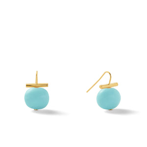 Classic Medium Pebble Pearl Earrings in Turquoise – Catherine Canino's most universal size and it's Catherine's personal fave, this selection is a beautiful statement turquoise color