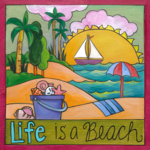 """Collect Memories"" Plaque – ""Life is a beach"" when you soak in the memories made front view"
