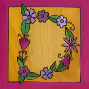 "Sincerely, Sticks ""D"" Alphabet Letter Plaque option 3 written out in flowers"