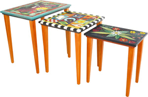 Nesting Table Set –  Bright and colorful nesting table set with vibrant hues