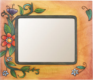 "8""x10"" Frame –  Frame with floral motif on orange background"