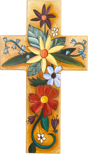 Cross Plaque –  Cross Plaque with floral motif