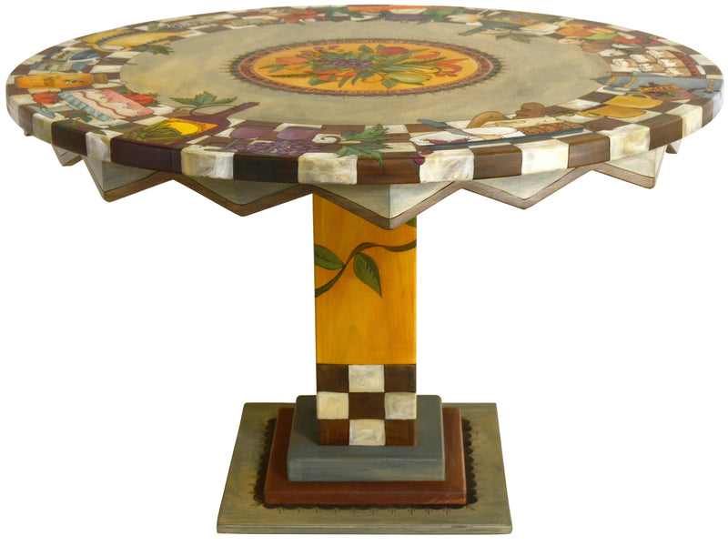 Sticks handmade dining table with picnic banquet theme