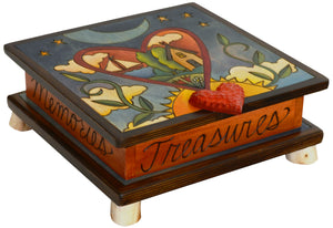 Keepsake Box – Gorgeous landscape within a heart in the sky motif