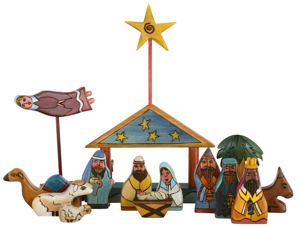 Small Nativity –  Small nativity with starry roof