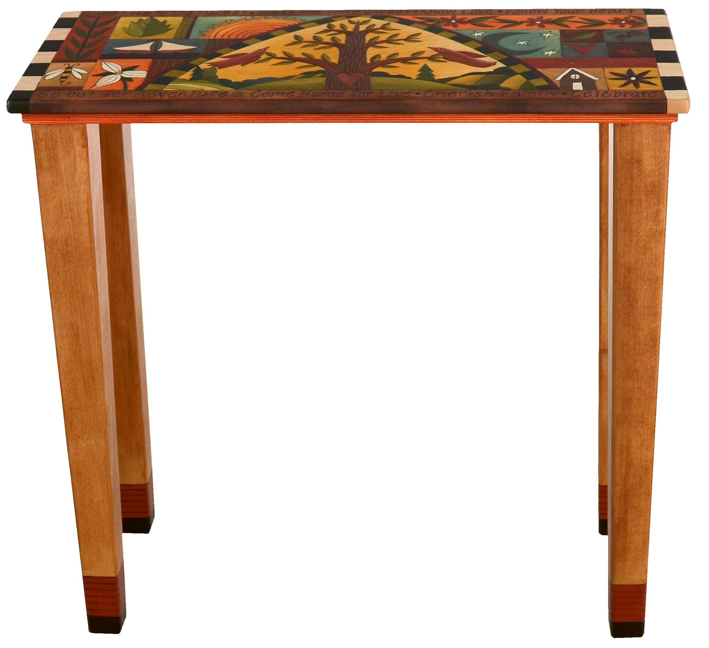 Charmant Sticks Handmade Console Table With Tree Of Life And Colorful Life Icons ...
