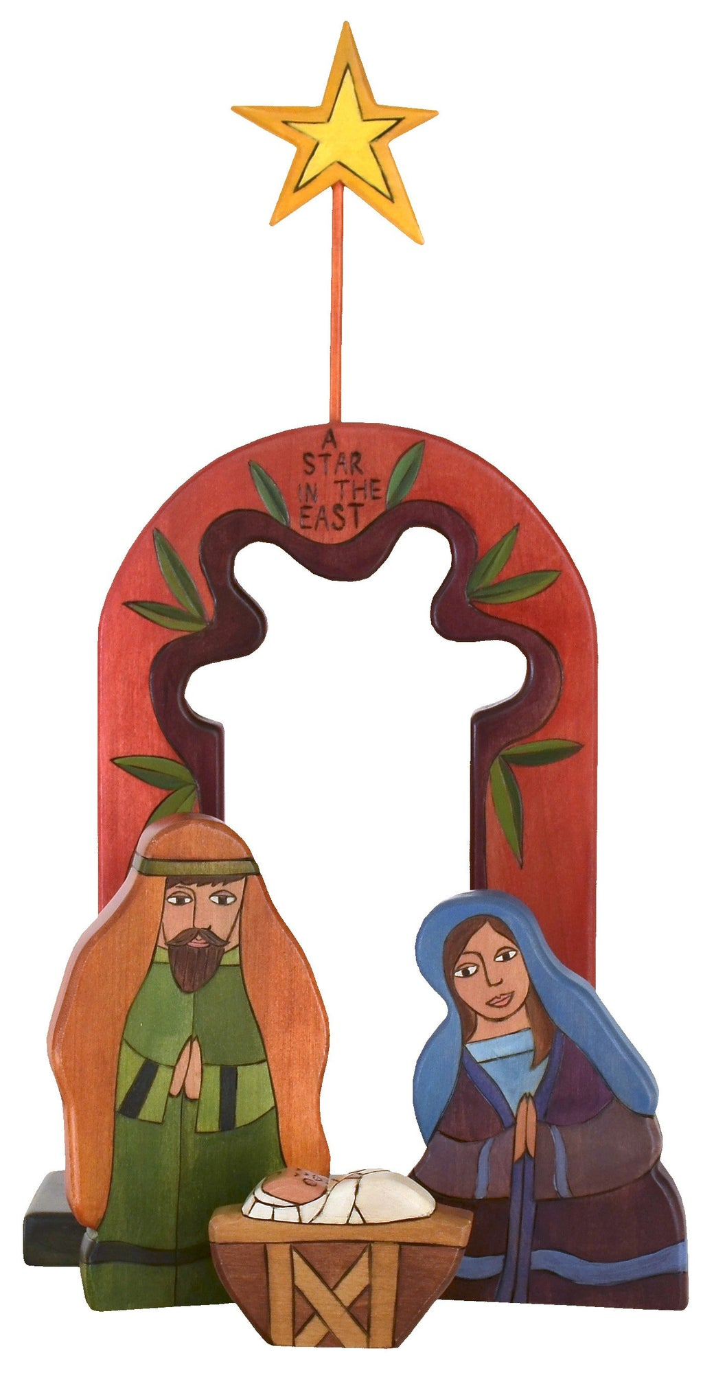 Holy Family Nativity –  Elegant and colorful holy family nativity scene