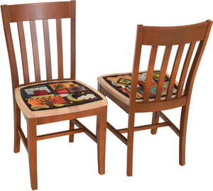 Pops Chair Set –  Dining chair set with color block icons and symbols on each seat