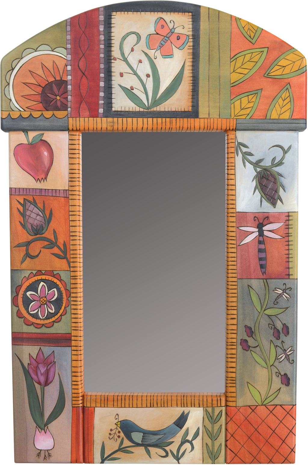 Small Mirror –  Beautiful mirror with contemporary floral motif